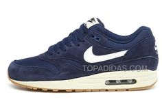 http://www.topadidas.com/nike-air-max-1-essential-shoes-midnight-blue-white-for-men.html Only$51.00 #NIKE AIR MAX 1 ESSENTIAL #SHOES MIDNIGHT BLUE WHITE FOR MEN #Free #Shipping!