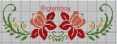 This Pin was discovered by Ros Cross Stitch Borders, Modern Cross Stitch Patterns, Cross Stitch Flowers, Cross Stitch Designs, Cross Stitching, Beaded Embroidery, Embroidery Stitches, Flower Boarders, Seed Bead Flowers