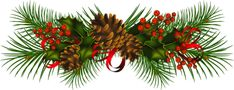 Transparent Christmas Pine Cones PNG Clipart