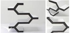 Entrepaño  XK inspirado en  los exagonos de las colmenas, con un diseño minimalista.Fotografia: Fabian Virviescas https://instagram.com/vircorpdesign/