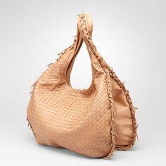 Bottega Veneta|Intrecciato Waxed Leather Duo Hobo