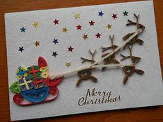 christmas quill card