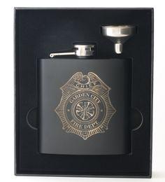 Laser engraved 6 oz flask set with box