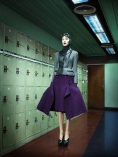"Carla Gebhart in ""Feminine Touch"" byLuciana Val & Franco MussoforL'Express Styles,November 2012"