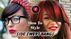 How to Style Side Swept Bangs Tutorials Compilation Part 1 ?  #bangs #side swept bangs #how to style #hair #tutorial #compilation