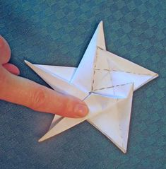 Five Pointed Origami Star - PAPER CRAFTS, SCRAPBOOKING & ATCs (ARTIST TRADING CARDS)