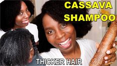 How to Make Cassava Shampoo for Thicker Natural Hair, Hair Loss and Dandruff Shampoo For Thick Hair, Diy Hair Shampoo, Natural Shampoo, Thick Natural Hair, Natural Hair Care Tips, Natural Hair Styles, Long Hair Styles, Hair Thickening, Dandruff