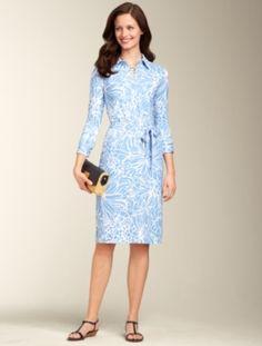 Talbots - Tropical Flower Shirtdress    Dresses   Misses