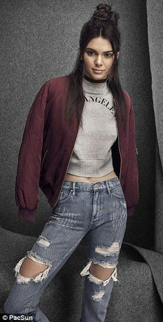 Throwback style: Kendall and Kylie Jenner channel the '90s in their new collection for Pac...