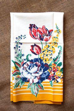 bomisch — Floral Vintage tea towel