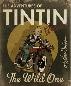 TINTIN GREASER artwork by http://rockartbilly.com/profiles/blogs/tintin-greaser