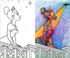 Coloring Book Corruption See Through Tiana