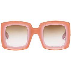 Marni Eyewear (7.460 ARS) ❤ liked on Polyvore featuring accessories, eyewear, sunglasses, pink, marni eyewear, pink glasses, acetate glasses, marni and engraved sunglasses