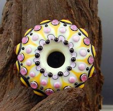 GLASSACTCC~Spring Dots~Handmade Lampworked Glass Beads Jewelry SRA