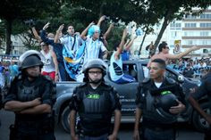 """Argentina invasion is on in Rio, whether host nation likes it or not. """"This was Argentina's Woodstock."""" --> http://yhoo.it/1ndLRcd #WorldCup #Sports #Soccer #Futbol"""