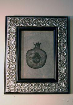Framed Pomegranate Grenade Monoprint Lithograph on by ANKarabin, $125.00