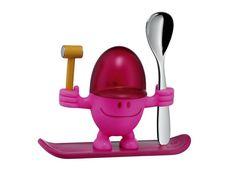 Kieliszek na jajko z łyżeczką WMF Mc Edition Pink/Silver