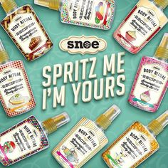 Among the many ways to get your sweet fix this season Scrumptious Body Spritz will help you set the scene for romance! Be the best-smelling gal at whatever lovely place your loved one will take you on February 14th! What's your favorite Snoe fragrance? #Snoe #SnoeBeauty #Perfume #Beauty #ValentinesDay #SpritzMeImYours #Fragrance