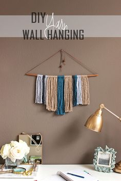 DIY Copper Pipe and Yarn Wall Hanging