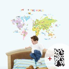 World Map Wall Stickers for Kids will endear your children to all. - Description : World Map Wall Stickers for Kids - Sheet Size : x ( x - Condition : Brand New - Origin : Seoul, Korea Look up the World Map Wall Stickers for [. World Map Sticker, World Map Wall Decal, Wall Maps, Mural Wall, Kids Wall Decals, Removable Wall Decals, Wall Decal Sticker, Reusable Wall Stickers, Kids Stickers