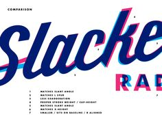 I was tasked by the fine folks at Slacker Radio with polishing the logo script they got from their agency. I couldn't change much but was happy to get some of the clunkier parts of it under control...