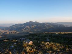 view of Mt Independence from Mt Harrison, Idaho at 9200'