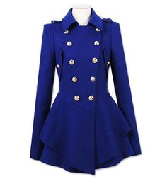 Fashionable Turn-Down Collar Double-Breasted Epaulet Embellished Pleated Top Long Sleeves Slimming Coat For WomenVintage Coats | RoseGal.com