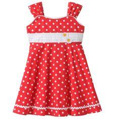 Blueberi Boulevard Polka-Dot dress - Great for Spring - SIZE 5