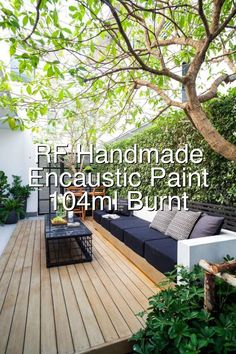 RF Handmade Paints Encaustic Paint Cake 104ml Burnt Umber#707 Small Garden Kitchen, Landscape Design, Garden Design, Handmade Paint, Painted Cakes, Backyard, Patio, Porch Swing, Diy Design