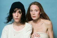 "urlof: "" Patti Smith & Sissy Spacek by Lynn Goldsmith, 1977 "" Sissy Spacek, Patti Smith, Lynn Goldsmith, Just Kids, Robert Mapplethorpe, Odd Couples, Rock And Roll, Beautiful People, Amazing People"