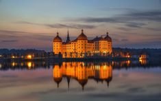 Schloss Moritzburg near Dresden in Germany. Between 1723 and 1733, Augustus The Strong had this castle remodelled as a country seat. It's located near Dresden.