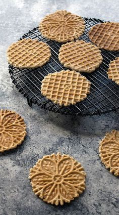 Vanilla Gluten-free Vegan Pizzelles Made with Teff Flour! These crisp and delicious cookies are the perfect spring treat!