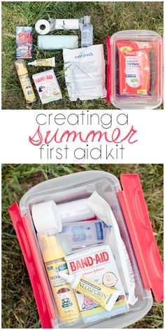 Creating a Summer First Aid Kit #ListerineMom #ad