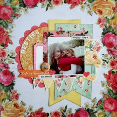 All About Scrapbooks - Kaisercraft Tropical Punch - by Fiona Johnstone Scrapbook Designs, Scrapbooking Layouts, Hello Everyone, Happy Day, Scrapbooks, Mini Albums, Besties, Punch, Arts And Crafts