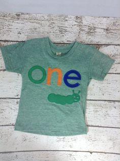 New lil threadz design posted! Ready to Ship first birthday shirt  one shirt boy's shirt first birthday gift caterpillar shirt caterpillar party insect caterpillar by lilthreadzclothing