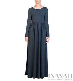 Green Gathered Abaya   INAYAH www.inayahcollection.com #inayah#hijabfashion#modestfashion#abaya