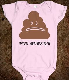 Poo Monster baby onesie