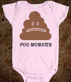 Poo Monster baby onesie