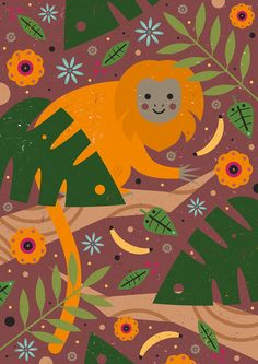 Carly Watts Art & Illustration: Golden Lion Tamarin