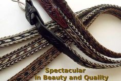 such a neat hobby :) (belt made out of horsehair)
