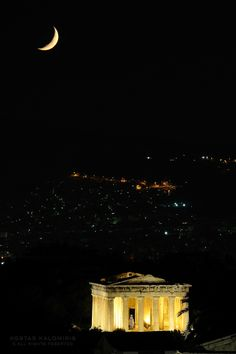 Ancient Athens by night. Temple of Hephaestus. Athens By Night, My Athens, Athens Greece, Greece Vacation, Greece Travel, Greece Trip, Wonderful Places, Beautiful Places, Greece Fashion