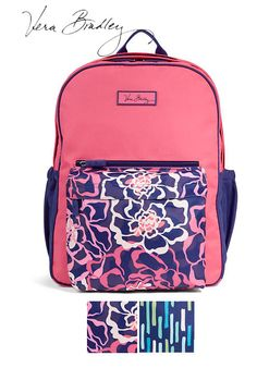 This Large Colorblock Vera Bradley Backpack is just what you need for school.  Lots of room!  Be sure to get a matching lunch bag
