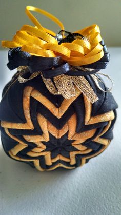 Mizzou quilted Christmas ornament
