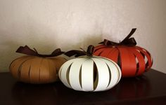 Easy pumpkins with scrapbook paper