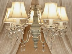 cottage style shabby chic chandelier lighting pinterest shabby chic chandelier cottage style and chandeliers - Shabby Chic Chandelier