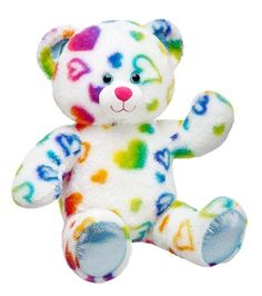 17 in. Rainbow Hearts Bear - Build-A-Bear Workshop - Coupon Codes, Discounts | Best Deals for Kids