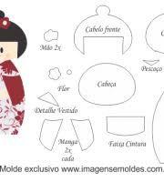 Image result for molde boneca de feltro