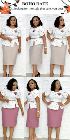 """""""It's ⌚ to Treat Yourself! The Perfect: New Clothes"""" Best African Dresses, Latest African Fashion Dresses, African Attire, Women's Fashion Dresses, Classy Work Outfits, Classy Dress, Chic Outfits, Office Dresses For Women, Professional Outfits"""