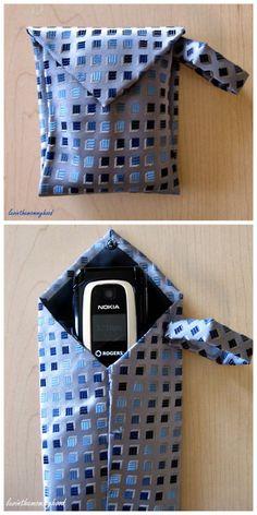 A little bag out of a tie.  Cute idea,