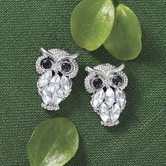 Crystal Owl Earrings - Gifts, Clothing, Jewelry, Home Decor and Home Furnishings - Unique and Affordable Gifts   Potpourri Gift
